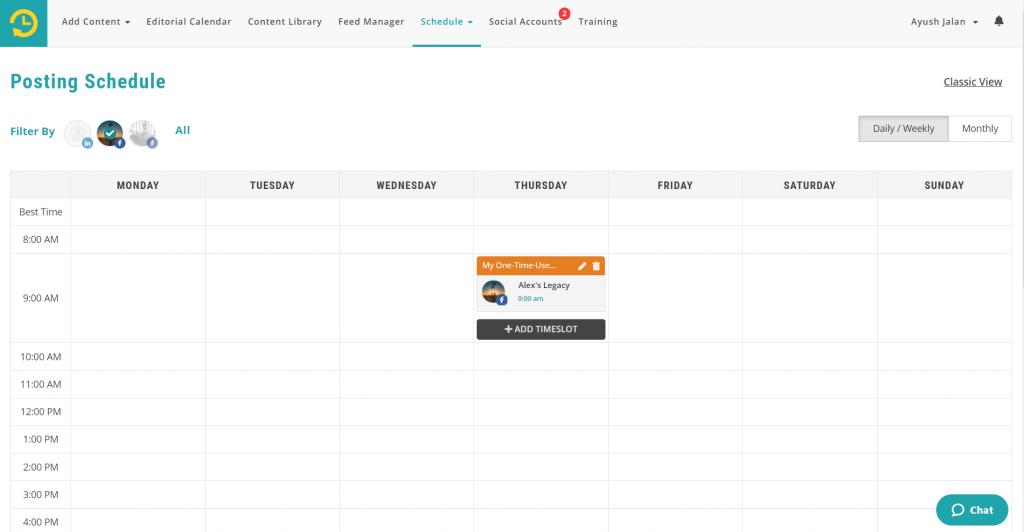 scheduling content - recurpost - social media scheduler