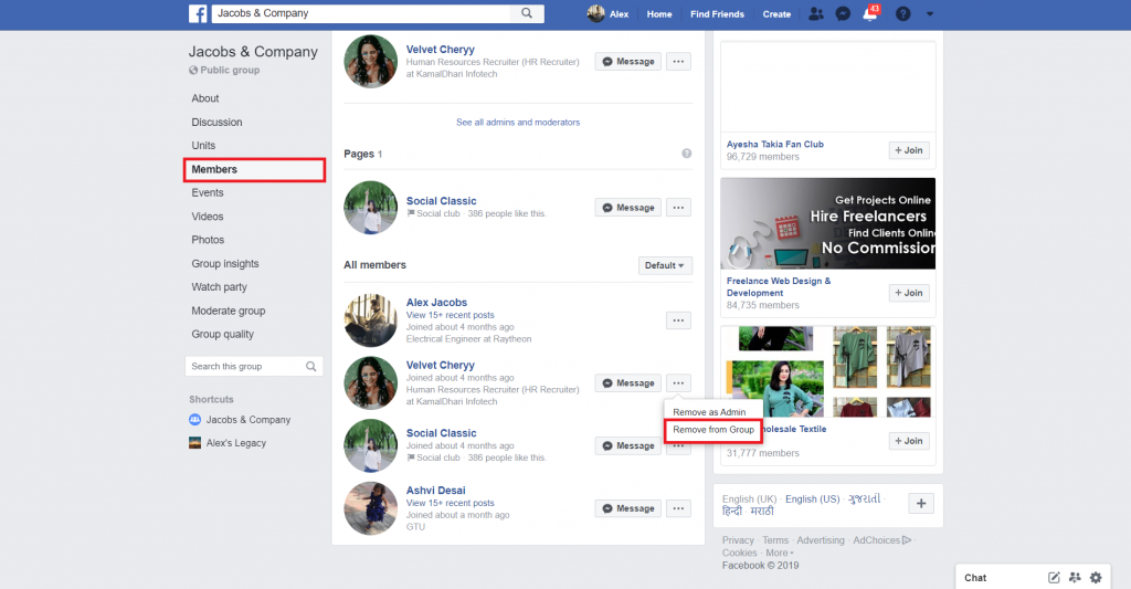 remove members from facebook group
