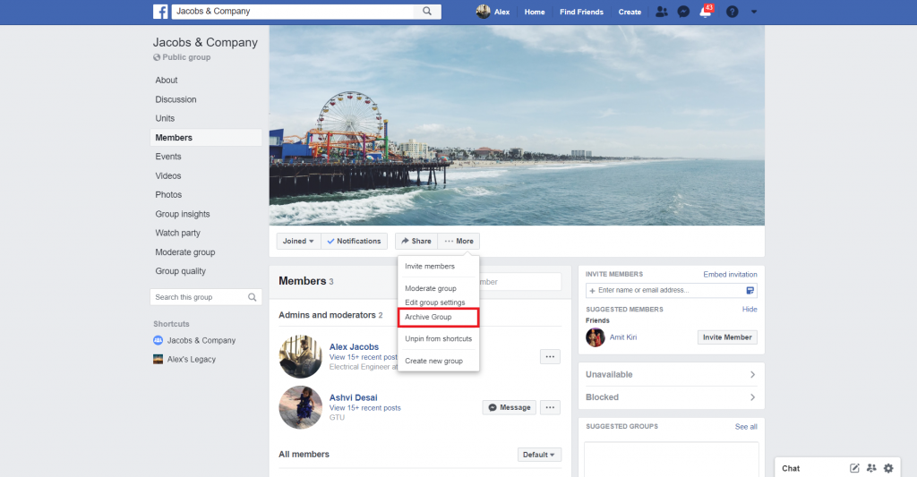 archive a facebook group - recurpost - social media scheduler