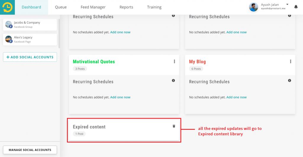 expired content - recurpost - social media scheduler