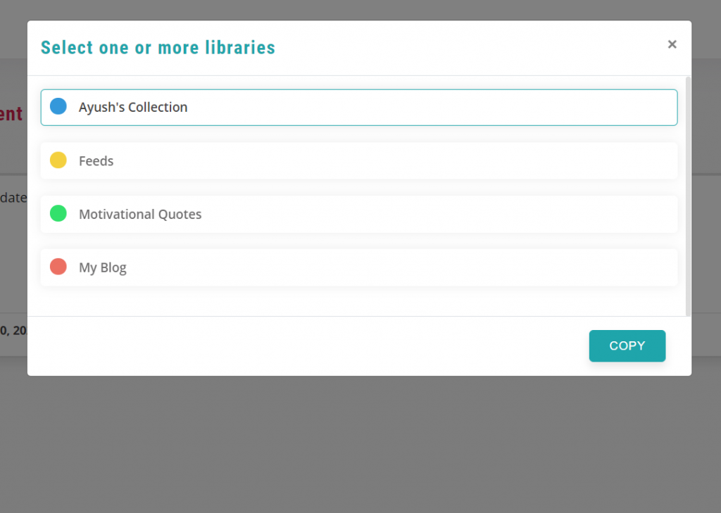 select the library -  recurpost - social media post scheduler