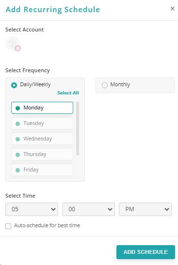 how to post on Instagram and Facebook using RecurPost-recurpost - social media scheduler